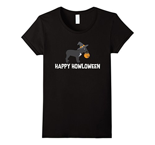 Womens Halloween Dog Shirt, Funny French Bulldog Witch Costume Gift Large Black (Funny French Bulldog Halloween Costumes)