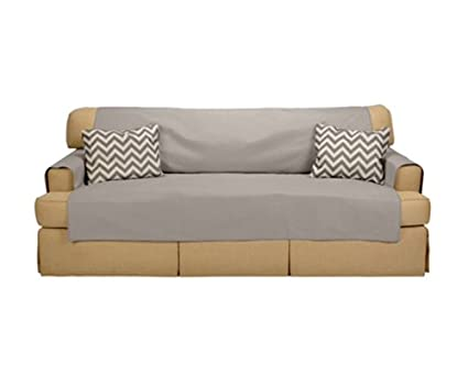 Amazing Amazon Com Messy Marvin Wipeable Sofa Cover French Gray Pdpeps Interior Chair Design Pdpepsorg