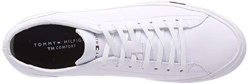 Corporate Homme 100 Basses Sneakers Hilfiger Leather Sneaker white Tommy Blanc gTRxW