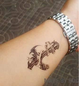 tzxdbh Impermeable Etiqueta engomada del Tatuaje Temporal en el ...