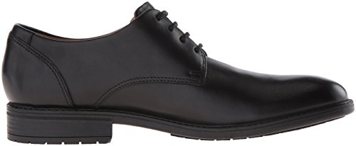 Clarks Mens Truxton Plain Oxford Nero In Pelle Impermeabile