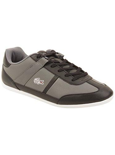 Lacoste Women's Minera Gsk Sneaker in Dark Grey/Black 7.5 W US