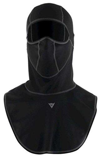 Dainese Total WS EVO Adult Windstopper Fabric Balaclava/Neck & Chest, Black, Med/MD