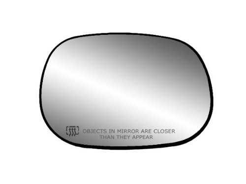 Fit System 30016 Passenger Side Heated Replacement Mirror Glass with Backing Plate