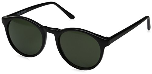A.J. Morgan Grad School Round Sunglasses, Matte Black, 48 - Keyhole Sunglasses