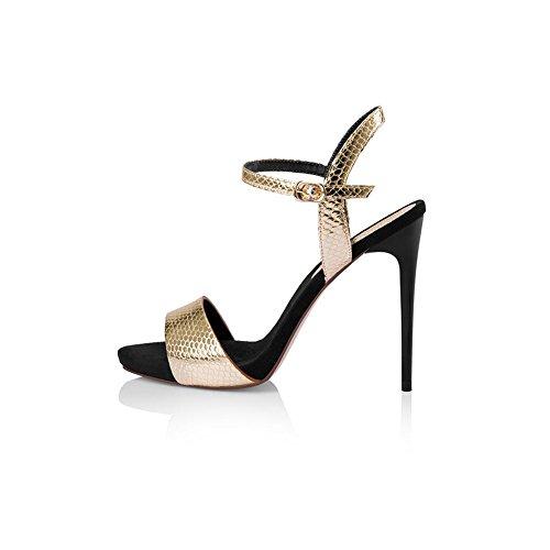 UK5 D'été Saison Taille Mince 11cm Talons pour Haut Escarpins 5 Golden Chaussures Talons DALL Sandales De Hauts 38 Pantoufles EU Femmes CN38 pH5E4wq