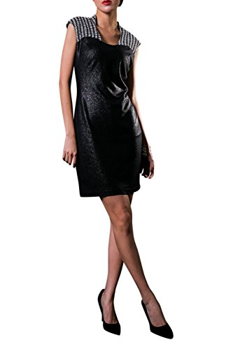 Everyday Elegance Women's Shimmer Collared Rose Cocktail Dress (Small, Black) (Sailor Outfit Ebay)