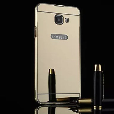 New Plating Mirror Back with Metal Frame Phone Case for Samsung Galaxy...