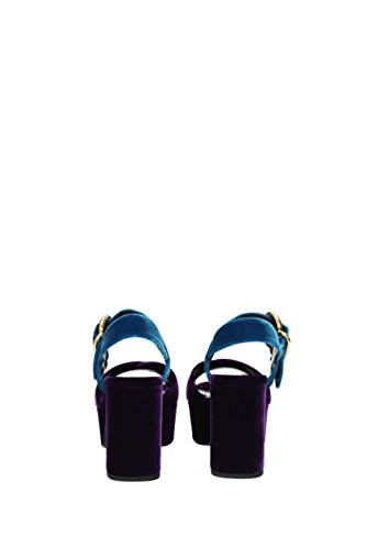 EU Donna Velluto Sandali Prada Viola 1XP873VELLUTOBICOLOR F4q6x8