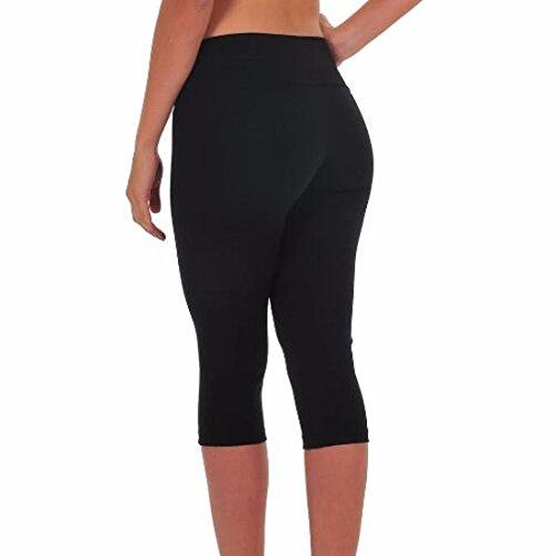 QIYUN.Z Las Mujeres De Cintura Alta Aptitud Del Yoga Pantalones De Deporte Estiramiento De La Impresion Recortada Polainas Foto En Color 12