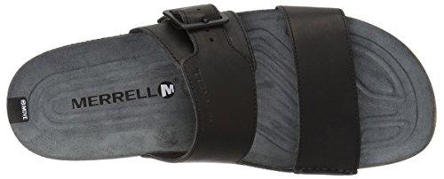 Merrell Mens Sandali Con Fibbia A Scorrimento Centro Nero (nero)