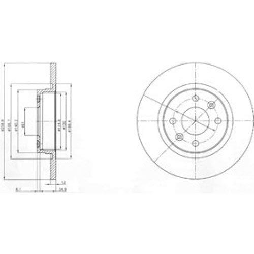 Delphi Bremsscheiben /Ø259Mm Bremsbel/äge Set Vorne