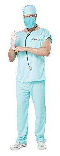 California Costumes Men's Dr. Bloodbath Costume, Green, X-Large - Zombie Doctor