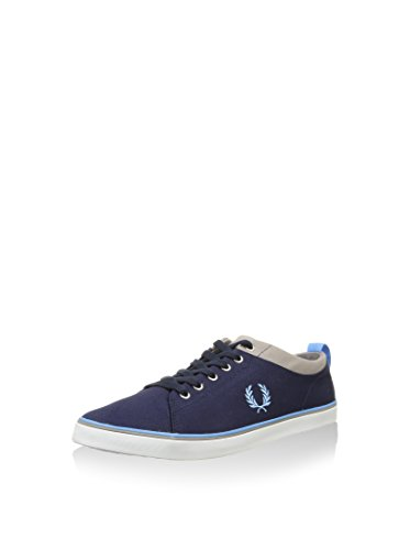 Fred Perry Men's Hallam Twill Trainers Blue 100% authentic online cheap sale great deals cheap 2014 newest cheap sale 2015 under $60 cheap price RP1v17