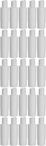 Earth's Essentials Twenty-Five Pack Of Refillable 4 Oz. Squeeze Bottles With One Hand Press Cap Dispenser Tops. Great for Dispensing Lotions, Shampoos and Massage Oils.]()