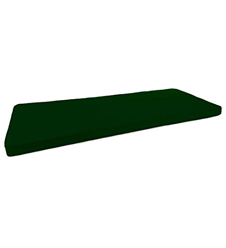 (Prospect Hill Deluxe Polyester Love Seat Glider/Settee Cushion, Forest Green)