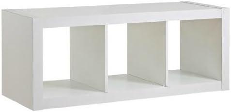Better Homes and Gardens Organizer Storage Bookshelf White, 3-Cube