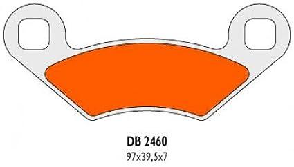 Vorne links//Vorne rechts//Hinten Bremsbel/äge Delta Braking Sinter DB2460QDN f/ür POLARIS 500 Predator Baujahr 03-07