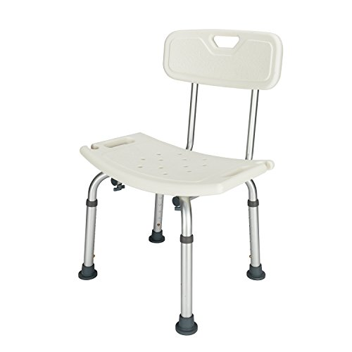 Mefeir Upgraded 450LBS Medical Shower Bench, Bath Lift Chair with Seat, Handicap Stool Transfer Seat, Heavy Duty Adjustable 7 Height,No Tools Assembly No-Slip, SPA Bathroom Bathtub (with - Portable Shower Bench Bathtub