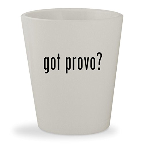 got provo? - White Ceramic 1.5oz Shot - Provo Sunglasses