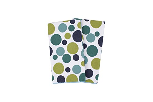 Ocean Pot - Ritz Royale Collection 100% Polyester Microfiber, Multi-Purpose, Polka Dot Print Kitchen Towel Set, 25