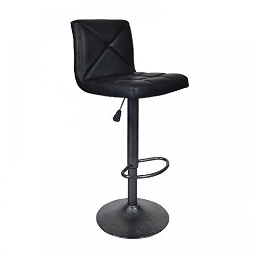 Bestoffice Black 2 Pu Leather Modern Adjustable Swivel