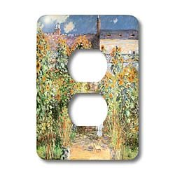 - 3dRose LLC lsp_126588_6 The Artists Garden At Vetheuil By Claude Monet, 1880 2 Plug Outlet Cover