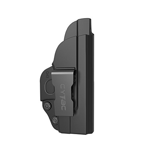 (Sumtop Glock 43 IWB Holster, Polymer Concealed Carry Inside Waistband Belt Holsters Fit Glock 43, Right Hand, Black)