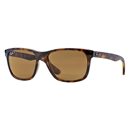 Ray-Ban Men's Polarized Highstreet RB4181-710/83-57 Brown Square - Rb4181 Polarized