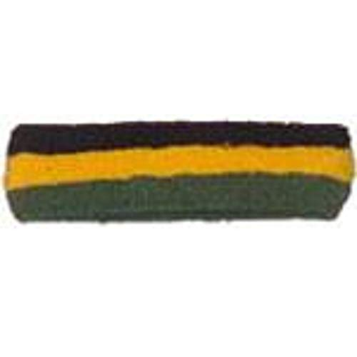 Striped Headband Black/Gold/Green ()
