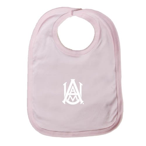 Alabama A&M Light Pink Baby Bib 'Official Logo' by CollegeFanGear