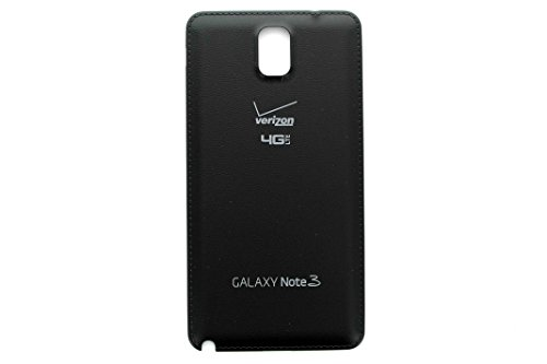 For Samsung Galaxy Note 3 N900V Verizon 4G LTE Back Battery Door Cover - Black - All Repair Parts USA (3 Back Cover Battery Door)