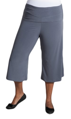 Sealed With A Kiss Designs Plus Size Essential Gaucho Pants - Size 5X, Grey