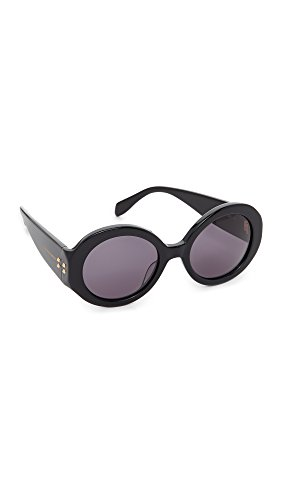 Alexander McQueen Women's Belle Du Jour Sunglasses, Black/Smoke, One - Mcqueen Glasses