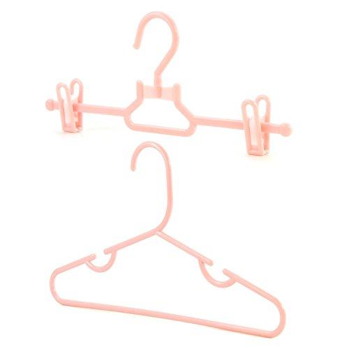 Hangerworld Closet Set- 20 Pink Plastic Coat Hangers For Kids Clothes - 11.8 Inches by HANGERWORLD
