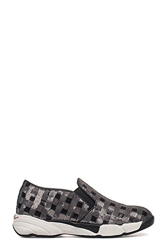 Pinko Slip On Sneakers Donna 1H208DY2L1ZZF Paillettes Argento