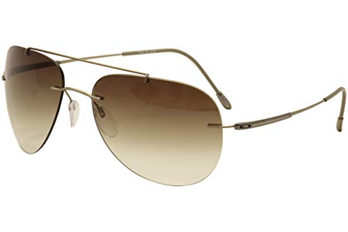 (Sunglasses Silhouette Adventurer 8142 6236 Classic Brown Gradient 58/17/130 3 pi)