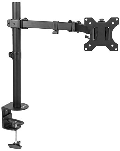 VIVO Full Motion Single VESA Computer Monitor Desk Mount Stand with Articulating Double Center Arm Joint | For 13 to 32 Screens (STAND-V101) [並行輸入品]   B0768TVH21
