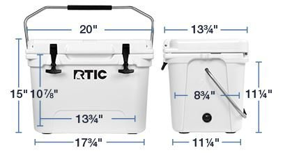 RTIC Cooler (RTIC 20 White) by RTIC (Image #3)