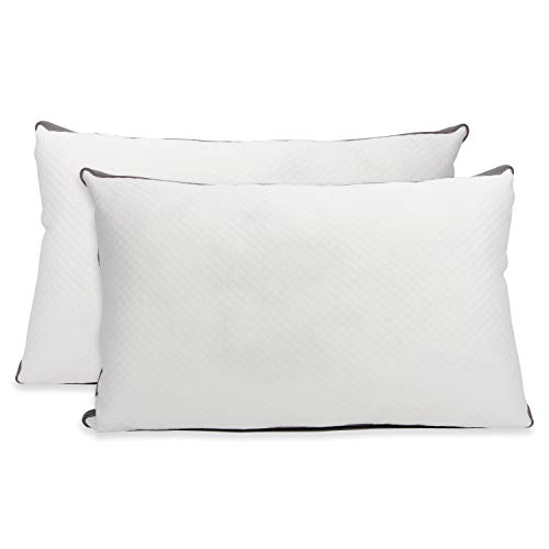 Cheer Collection Shredded Latex Pillows for Sleeping | 100% Adjustable Custom Fit Bed Pillows with Washable Bamboo Cover - Standard Size (18