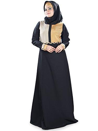 MyBatua islamic negro simple casual & formal desgaste burqa abaya maxi AY-394