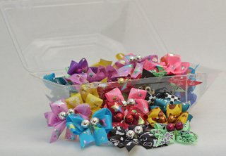 50 Specialty Prints Handmade Dog Grooming Bows, My Pet Supplies