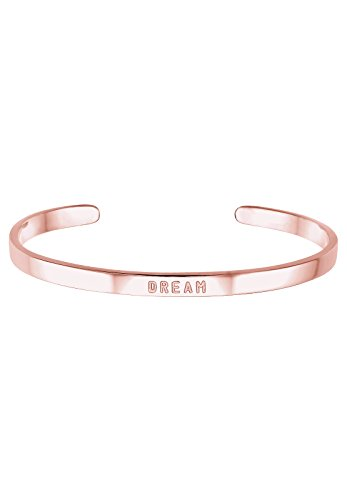 "Elli-Bracelets-Femme-Inscription ""Dream""-Plaqué or Rose-0202122916_17"