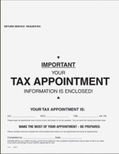 EGP 1040 Tax Appointment Organizer - For Returns by Appointment by EGPChecks