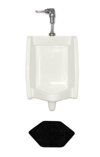 WizKid Fiber Classic Diamond Urinal Mat, 16-3/4' Width x 20-1/2' Length x 1/4' Thickness, Black (Pack of 4)