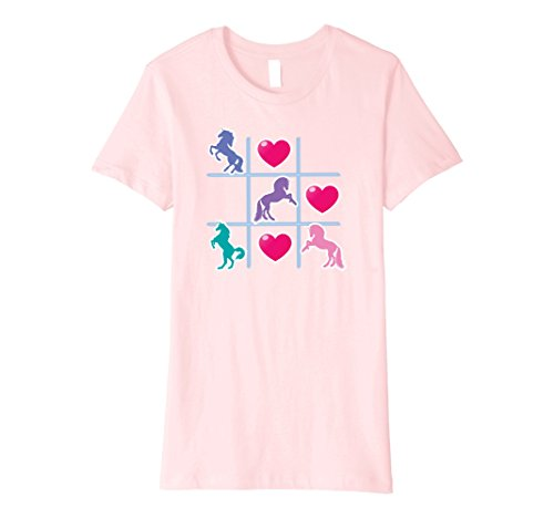 Womens Unicorn and Hearts Noughts and Crosses Game T-Shir...