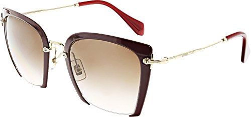 Miu Miu MU52RS UA50A6 Dark Purple MU52RS Square Sunglasses Lens Category 2 - Miu Sunglasses Mens Miu