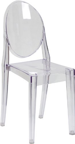 Beau Flash Furniture Ghost Side Chair In Transparent Crystal   Set Of 2