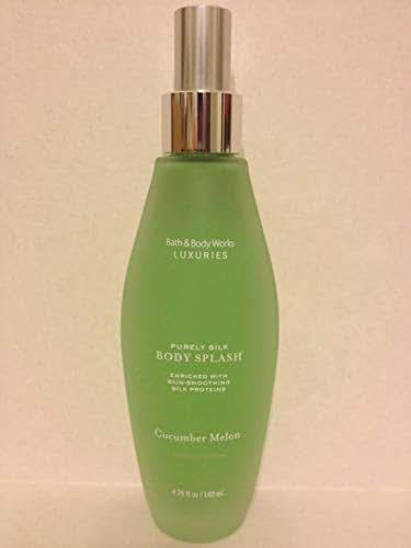 Bath & Body Works Luxuries Cucumber Melon Purely Silk Body Splash with Skin Smoothing Silk Proteins 4.75 fl oz