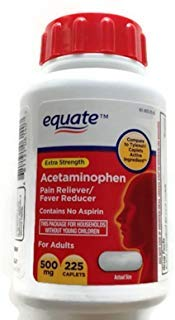 Equate Acetaminophen Extra Strength Pain Reliever/fever Reducer - 500 Mg, 225 Caplets ()